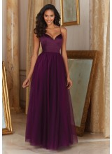 Morilee Satin and Tulle Bridesmaid Dress