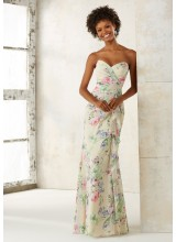 Strapless Chiffon Bridesmaids Dress with Sweetheart Neckline