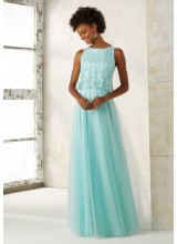 Tulle Bridesmaids Dress with Embroidered and Beaded Bodice