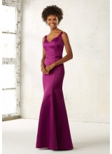 Fitted Satin Bridesmaids Dress