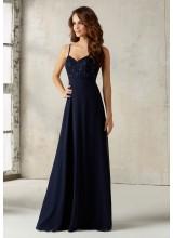 Beaded Lace and Chiffon Bridesmaids Dress