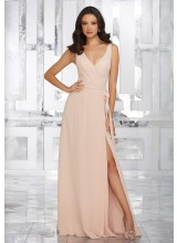 Chiffon Bridesmaids Dress with Matching Chiffon Tie Sash