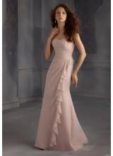 c93cb9f84a2e Long Draped and Ruffled Chiffon Morilee Bridesmaid Dress