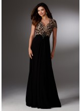 Chiffon Mother of the Bride Dress with Embroidery and Beading