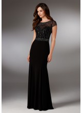 Beaded Jersey Evening Gown
